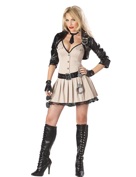 MOONIGHT Wonder Store MOONIGHT Adult Sexy Police Cosplay fancy dress Sexy Policewomen costume Halloween costumes for women