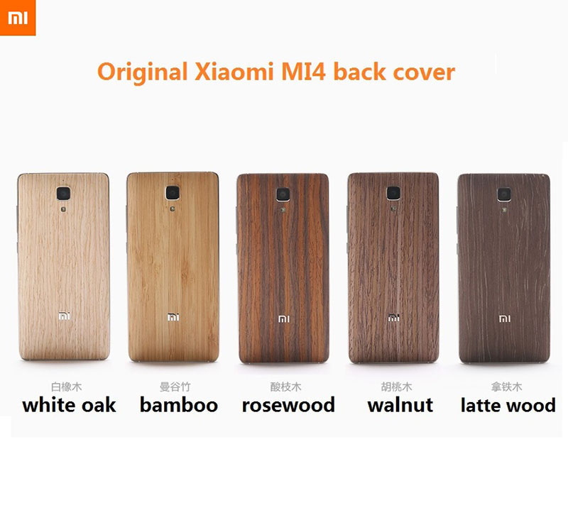 premium selection 9781b 14c60 US $9.98 |100% Original brand For Xiaomi Mi4 back cover solid wood bamboo  xiaomi Mi 4 battery case new available + 1 *glass protector film on ...