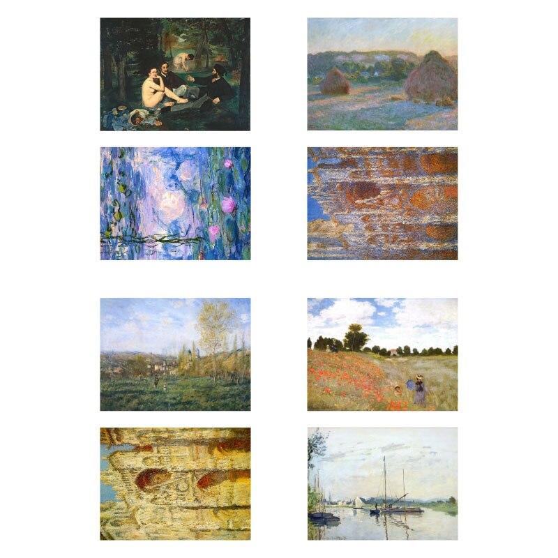 1 PCS Claude Monet Famous Painting DIY Uncut Bullet Journal Sticker Art Decor Scrapbooking Diary Prints Stickers