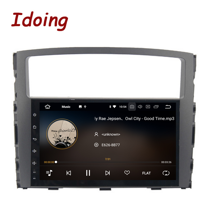 Idoing 9 IPS Écran Android 8.0 Autoradio Multimédia Lecteur Fit MITSUBISHI PAJERO V97 V93 2006-2011 Octa core PX5 Rapide Boot 3g