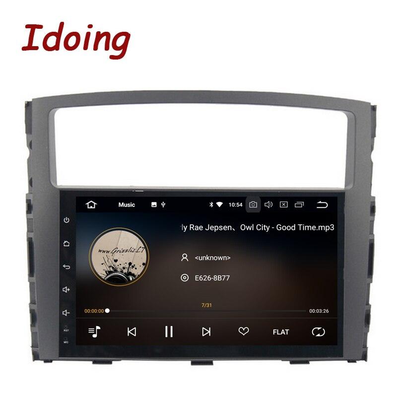 Idoing 9 ips Экран Android 8,0 автомобилей Радио мультимедийный плеер Fit MITSUBISHI PAJERO V97 V93 2006-2011 Octa Core PX5 быстрая загрузка 3g