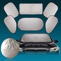 6 Pcs Set Car Window Sun Shade Foldable Windshield Full Shield Visor Block Cover Car Sstyling