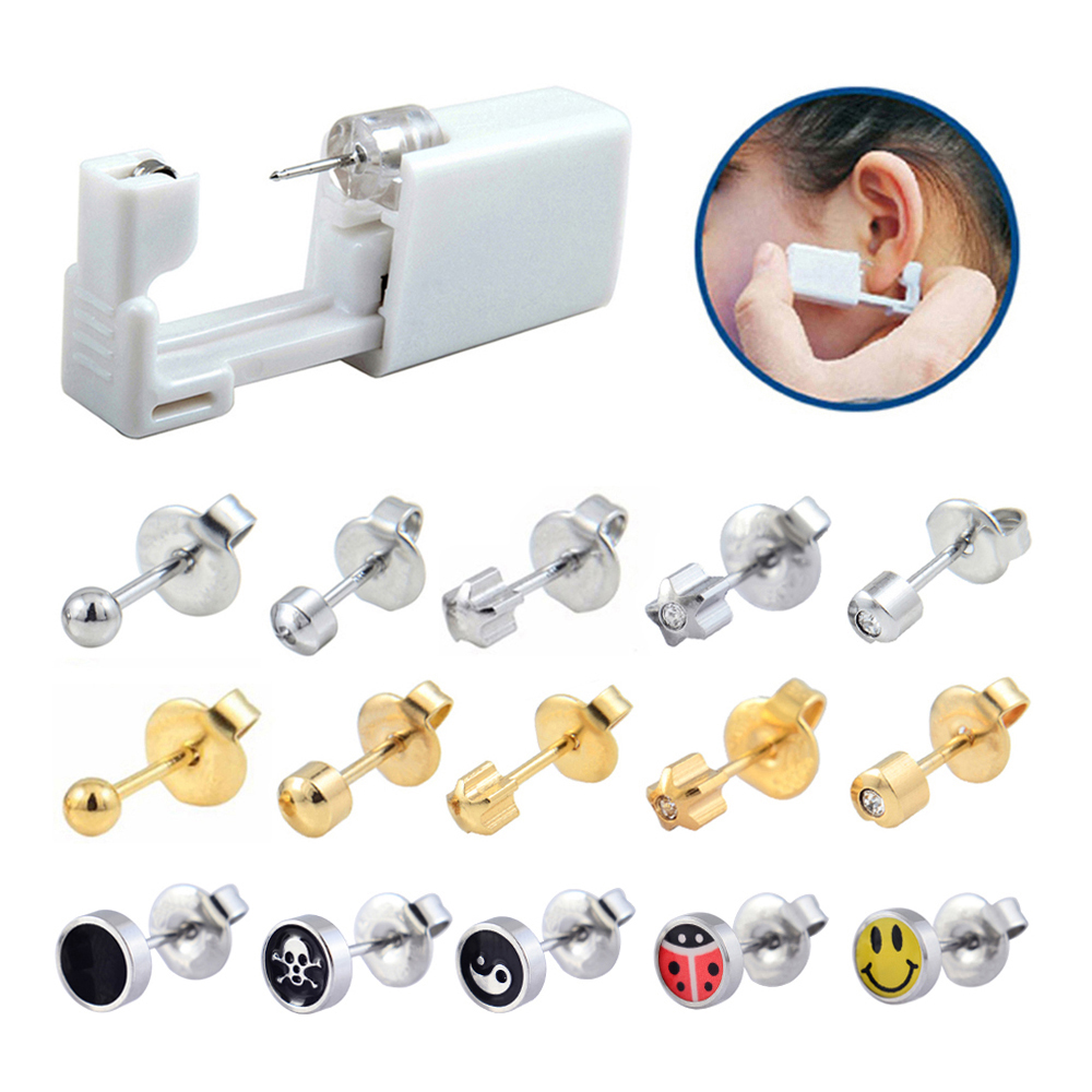 Piercer-Tool-Machine-Kit Unit Earring Stud Disposable Hot-Sale Safe Gun Sterile