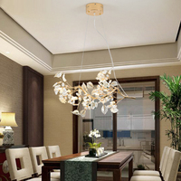 American Style Crystal Pendant Lights Rural French Speakers Retro Restaurant Iron Bedroom Living Room Pendant Lights