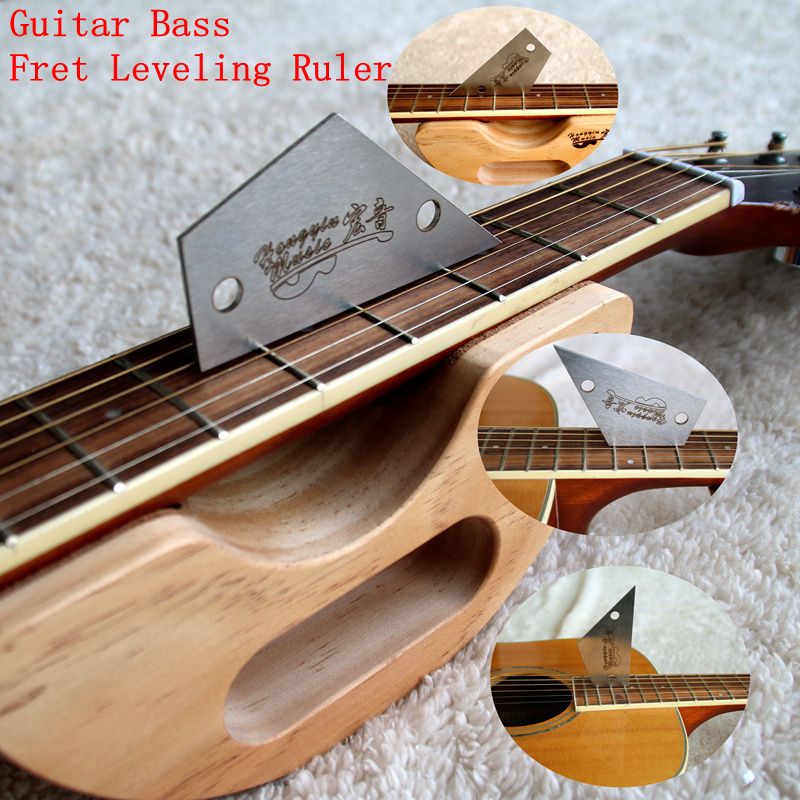 Guitar Bass Fret Leveling Ruler Fret Rocker Fret Level Luthier Tool Acoustic Guitar Electric Guitar Bass Fingerboard Accessories