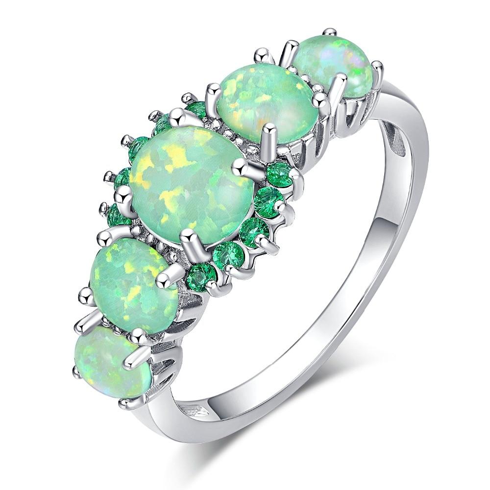 Orange fire opal ring 2