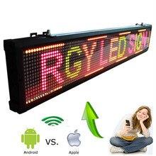 101 см многоцветный ios и Android Wifi беспроводной пульт дистанционного программируемый рекламный светодиодный дисплей