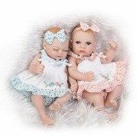 NPKCOLLECTION impermeable Mini reborn bebé muñeca par realista vida muñeca de silicona sólida niños regalo 12 pulgadas