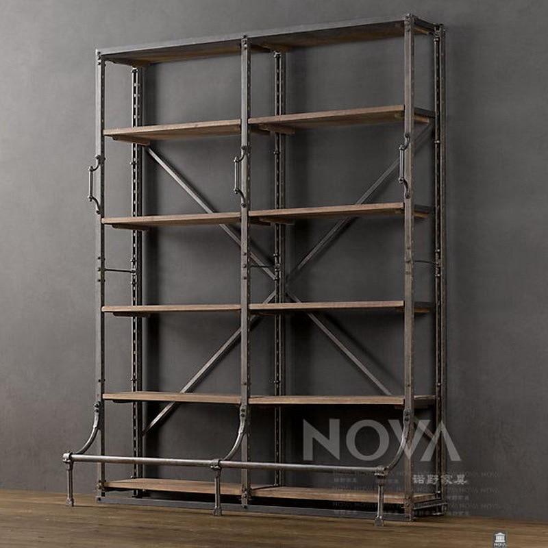 amerikaanse vintage ijzer hout boekenkast vrije combinatie ikea ...