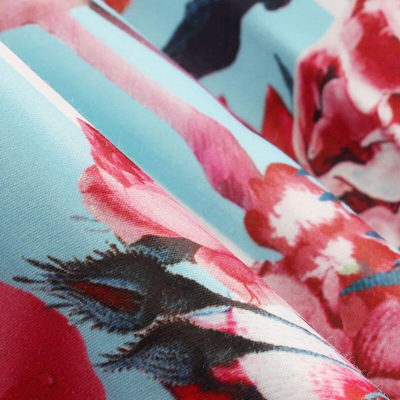 Цветочный принт рокабилли лук пояс платья Синий Белый Летнее платье в полоску Фламинго 1950 S элегантный стиль праздничное платье в стиле пэч...