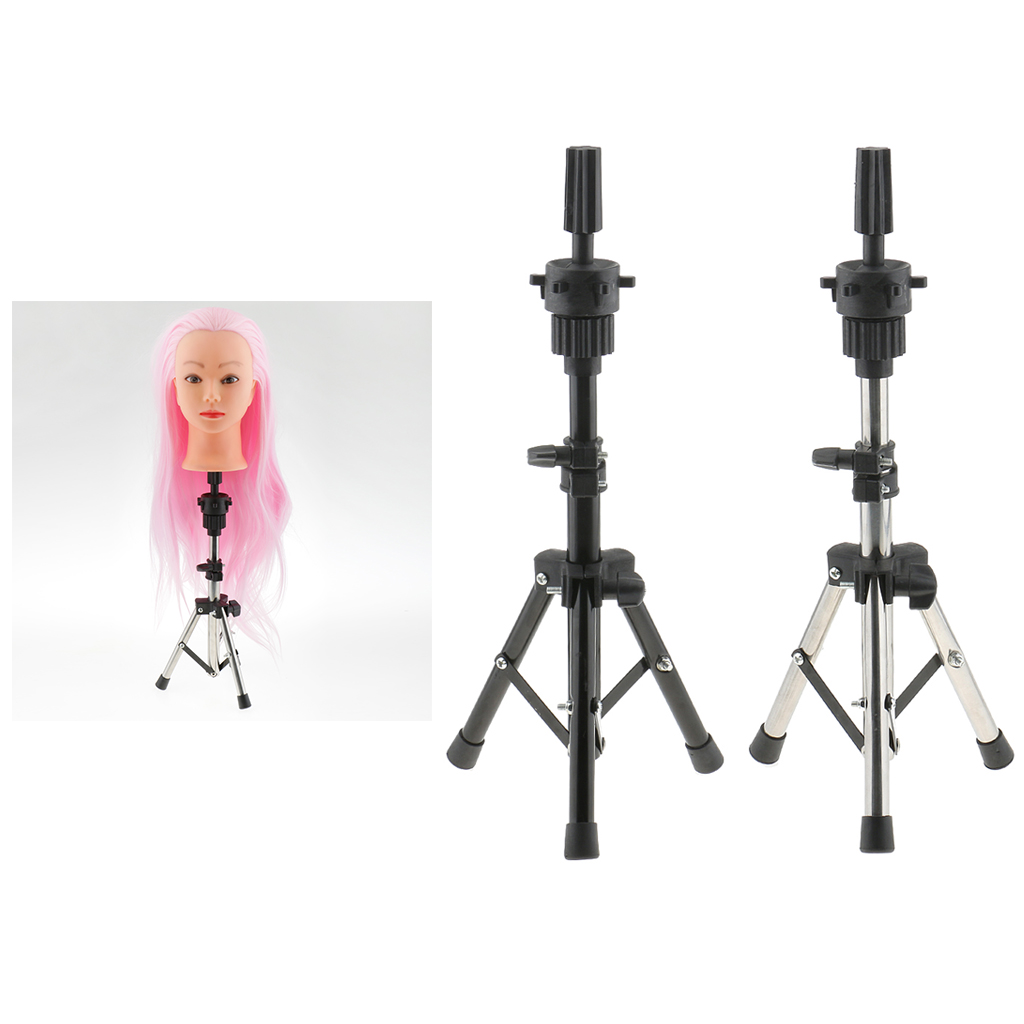 2018 Adjustable Salon Stainless Steel Cosmetology Mannequin Manikin Head Holder Tripod Stand Hair Styling Mold Clamp