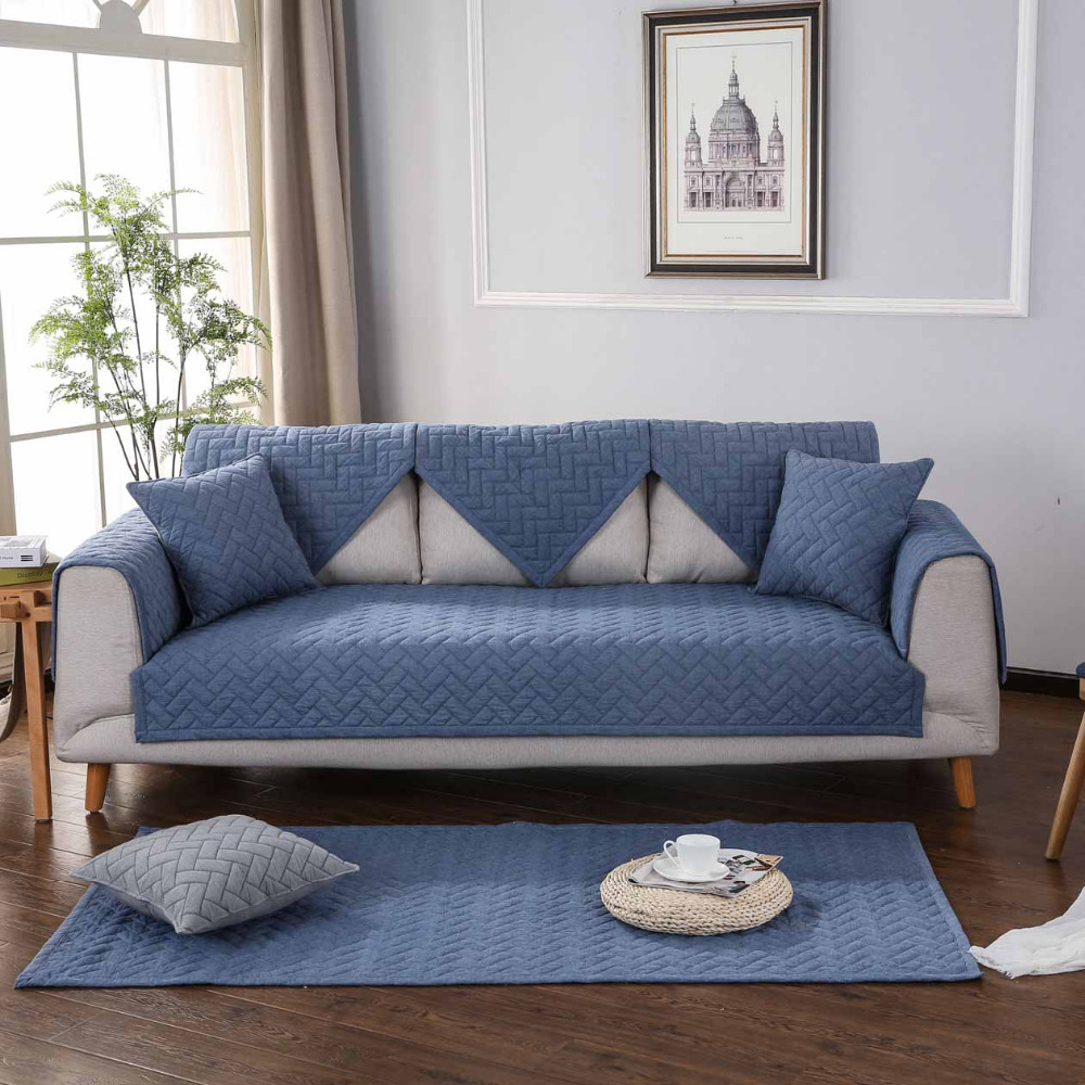 High Quality Solid Sofa Cover Protector Modern Cotton