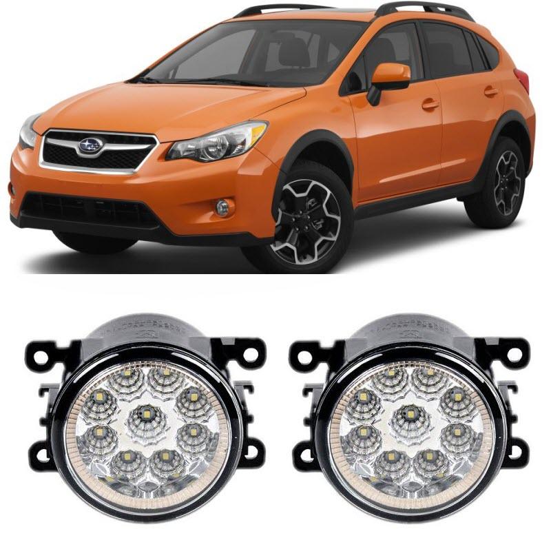 Car-Styling For Subaru XV Crosstrek 2013 2014 2015 9-Pieces Led Fog Lights H11 H8 12V 55W Fog Head Lamp юбка amuse бежевый