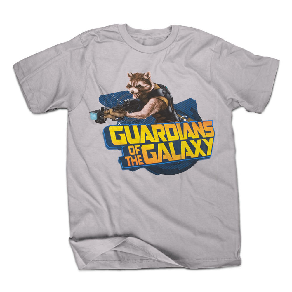 Guardians Of The Galaxy Raccoontastic Mens Grey T-Shirt Adult 100% Cotton Customized Tees