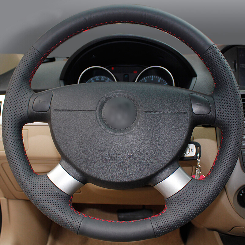 Hand stitched Car Steering Wheel Cover for Chevrolet Aveo Lova Buick Excelle Daewoo Gentra 2013 2015