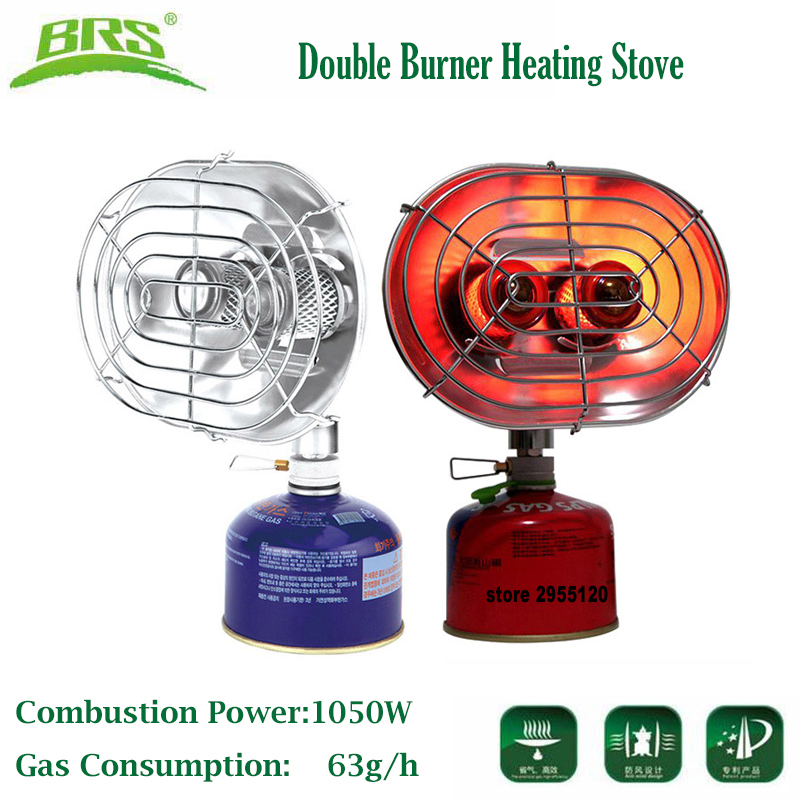 BRS Portable Gas Heater Camping Fishing Warmer Butane Propane Double Burners Heating Stove Infrared Ray Gas