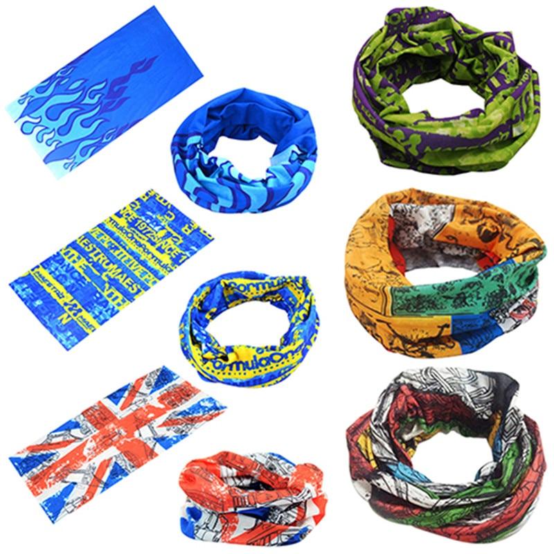 Magic Headband Scarf Microfiber Headwear Polyester Scarves Sports Mask Sun Bicycle Bandanas Men's Seamless Tubular Hijab Scarf