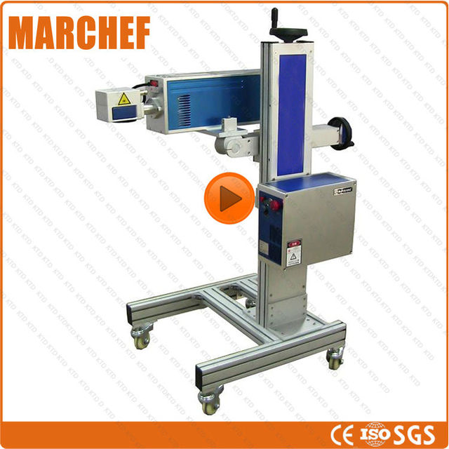 ce iso automatic laser logo printing machine in food processors from