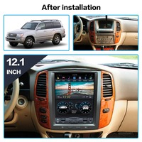 Android Car GPS Navigation For TOYOTA LAND CRUISER LC100 03 headunit multimedia radio tape recorder no DVD player 4K Tesla style
