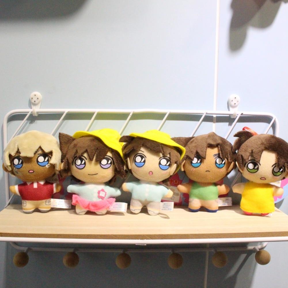 Anime Detective Conan Kudo Shinichi Baby Plush Pendant Toy 10CM Soft Stuffed Dolls Gift