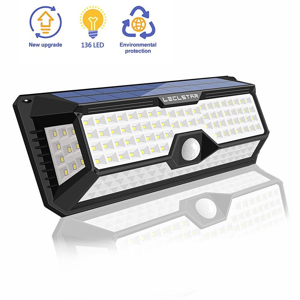 Solar Lamps For Garden Decoration Wireless Wall Solar Led Light Outdoor Waterproof Motion Sensor 136 Led Spotlight Energy Saving