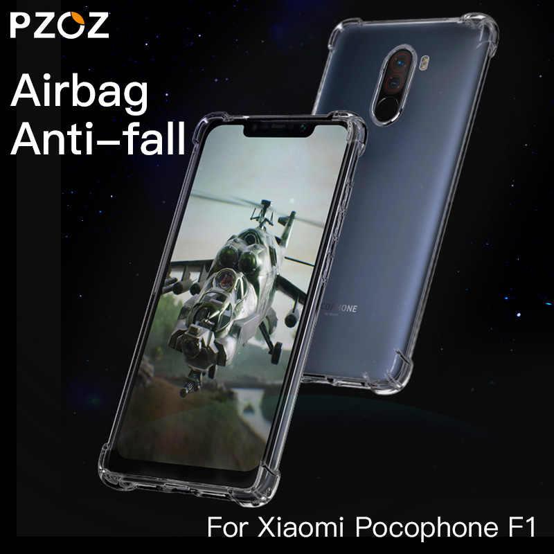 PZOZ для Xiaomi Pocophone F1 чехол противоударный защитный чехол для телефона TPU мягкая прозрачная защитная сумка для Xiaomi F1 PocophoneF1