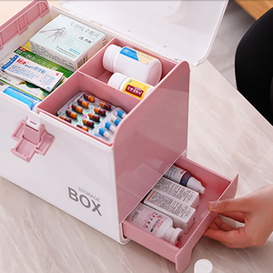 Image 3 - Home First Aid Kit Medicine Box Storage Box Plastic Container Emergency Kit Portable Multi layer Large Capacity Medicine Chest