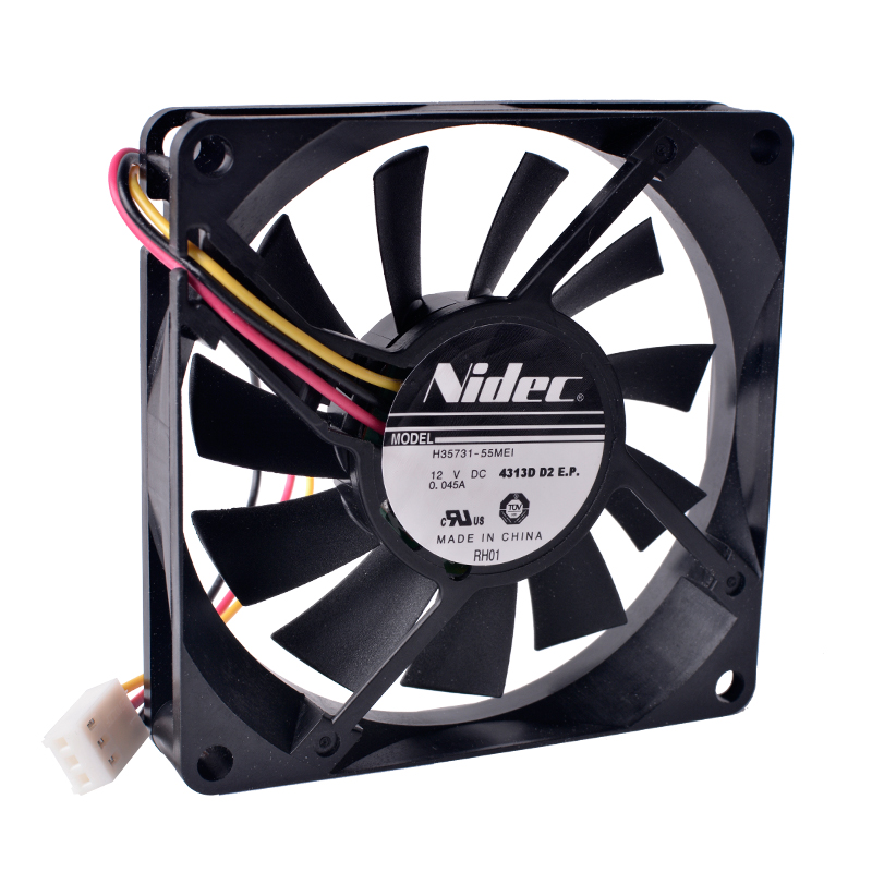 COOLING REVOLUTION 80mm fan h35731-55mei 8015 80x80x15mm 12V 0.045a 8cm ultra-thin silent cooling fan. free delivery original afb1212she 12v 1 60a 12cm 12038 3 wire cooling fan r00
