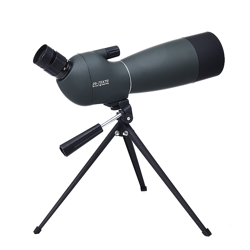 High Zoom Monocular 25-75X70 HD Telescope with Tripod for Bird-watching Nitrogen Astronomical scopes Waterproof Spotting Scope 20 60x60ae hd wide angle high power bird photography astronomical monocular binoculars telescope spotting scope