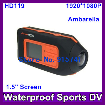 wholesale- Free shipping Car DVR HD119 1080P Helmet Camera HD Outdoor Sports Action Camera with 1.5 Inch TFT LCD,5.0 MP, 1/2.5