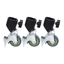 3 шт фотостудия сверхмощное универсальное колесико для светильник и штанга для фотостудии