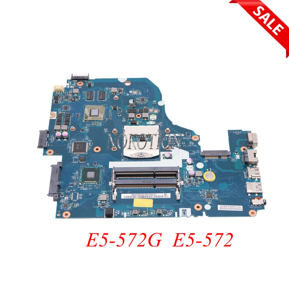 NOKOTION Z5WAW LA-B702P NBMQ011001 NB.MQ011.001 Laptop motherboard For acer aspire E5-572G E5-572 HM86 GT840M GPU Main board wzsm original usb board with cable for acer aspire e5 521 e5 571 usb board ls b162p tested well
