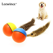 Pet Dog Cat Kids Toy Automatic Roller Ball for Dogs Beaver Waterproof Chasing Moving Child Interactive