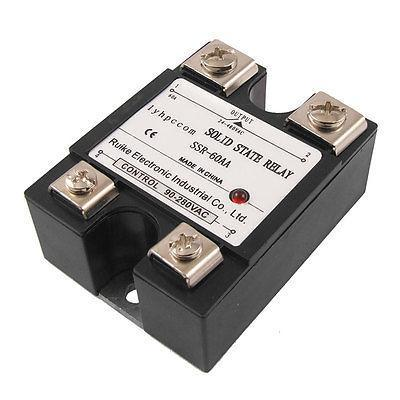 Temprature Control Single Phase Solid State Relay SSR 60A 90-280V AC 24-480V AC