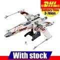 Clon 10240 2017 DHL LEPIN 05039 1586 unids Star Wars El x-wing Rojo Cinco Starfighter Modelo Kit de Construcción conjunto de Bloques de Ladrillos