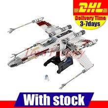 Клон 10240 2017 DHL ЛЕПИН 05039 1586 шт. Star Wars X-wing Красный Пять Истребитель Модель Здания Комплект набор Блоков Кирпича