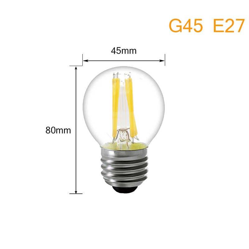 Светодиодный лампы в форме свечи лампы E27 светодиодный свет накаливания 220 V E14 Ретро Античная полностью из стекла Edison лампа Винтаж 360 Светодиодная лампа внутреннего декора