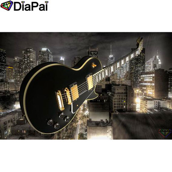 DIAPAI 100% Full Square/Round Drill 5D DIY Diamond Painting Guitar scenery Embroidery Cross Stitch 3D Decor A19114