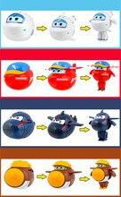 Hot Penjualan Super Catapult Telur Mainan Mini Super Pesawat Sayap sayap Transformasi Deformasi Pesawat Robot Aksi Angka Mainan anak-anak