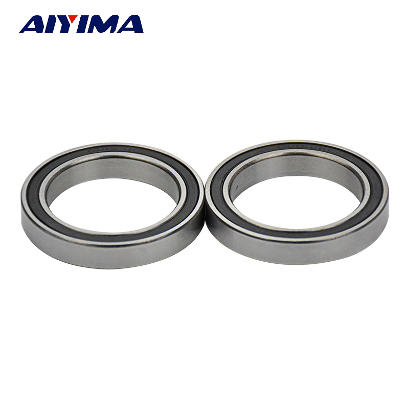 Aiyima 2PCS 6806 61806 2RS Si3N4 Ceramic Ball Bearing Rubber Sealed BB30 Hubs 30x42x7mm 2pcs 6802 2rs si3n4 ceramic ball bearing rubber sealed 61802 bike parts 15x24x5mm