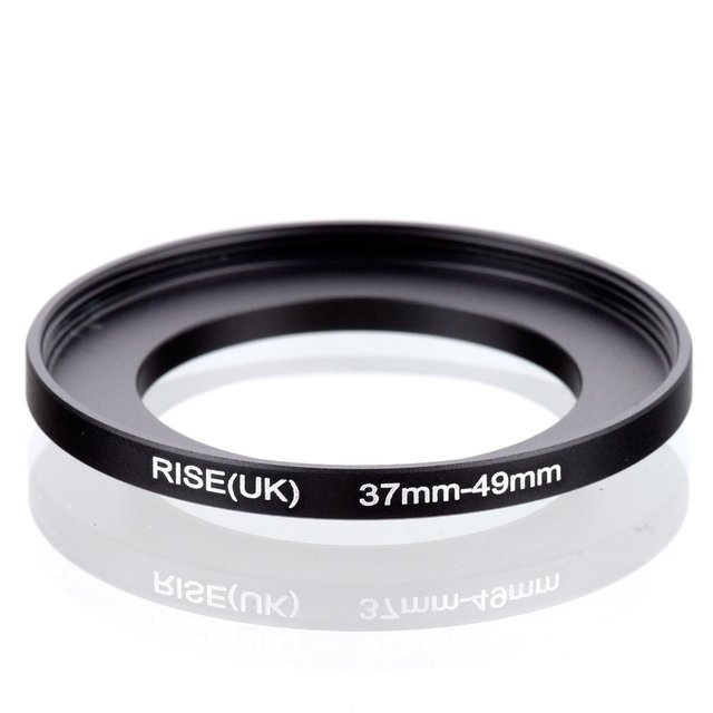 Оригинал RISE (ВЕЛИКОБРИТАНИЯ) 37 мм-49 мм 37-49 мм 37 до 49 Шаг До Кольцо фильтр Адаптер черный бесплатная доставка