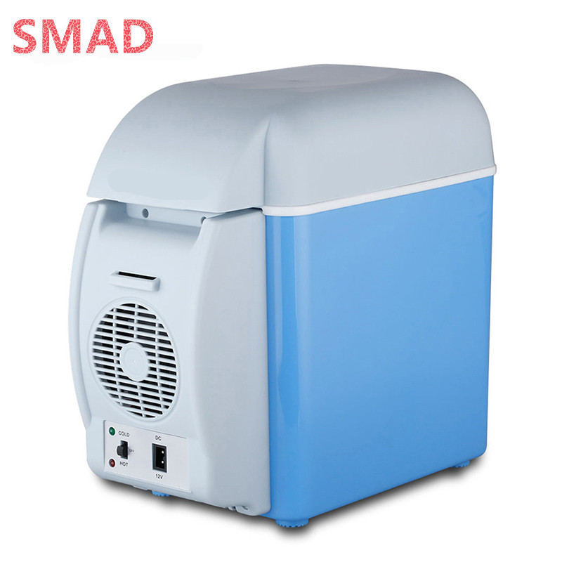 Smad Portable 7.5L Mini Car Refrigerator Multi-Function Home Travel Cooler Freezer Warmer Refrigerator Fridge Auto Supply цена и фото