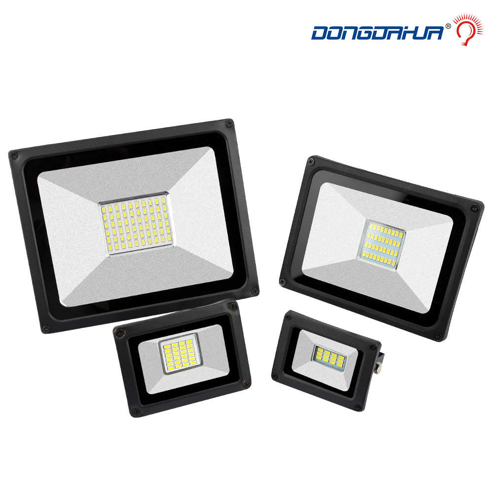LED Floodlight 10W 20 W 30 W 50W Ultal Thin LED Flood Light Spotlight 220V  Waterproof Wall Lamp Outdoor floodlights