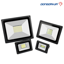 LED Floodlight 10W 20 W 30 W 50W 70 W 100W Ultal Thin LED Flood Light Spotlight 220V  Waterproof Wall Lamp Outdoor floodlights ip65 raincoat 10 w 20 w 30 w 50 wled projector lamp light exterior lighting project of flood main 176 264v toughened glass panel