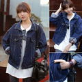 2014 New Limited Streetwear Regular Full Solid Button Spring Plus Size Clothing Jacket Coat Harajuku Bf Loose Outerwear Female
