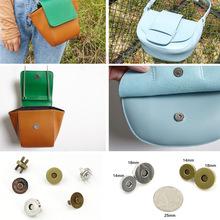 5 sztuk zapięcie magnetyczne torebki zatrzaski zamknięcia 14mm 18mm okrągły przycisk torba zatrzask klasyczne wysokiej jakości torba metalowa akcesoria 2019 tanie tanio