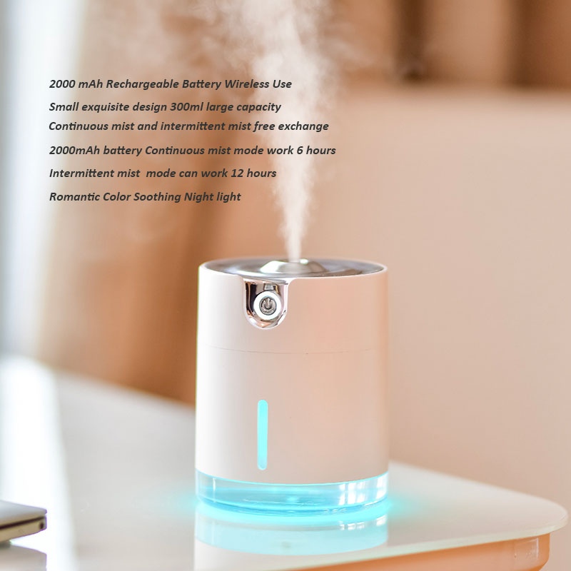 Image 5 - Water Pattern Wireless Air Humidifier Ultrasonic USB Rechargeable Aroma Air Essential Oil Diffuser For Travel OfficeHumidifiers   -