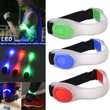 2pcs Night Running Arm Band LED Glowing Reflective Safety Armband for Jogging Cycling BB55(China)