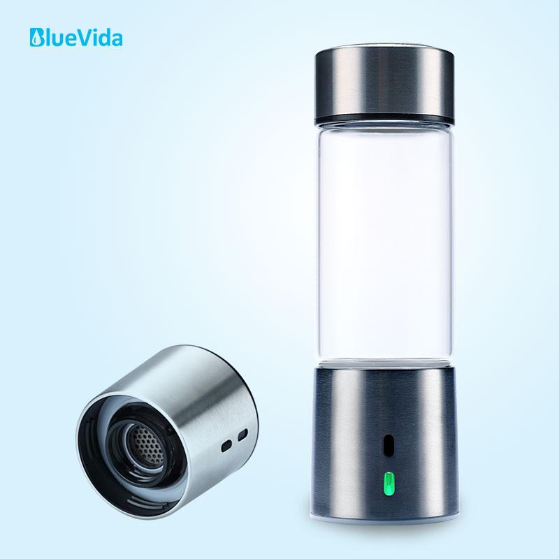 Bluevida pure 3000ppb gerador de água rica em hidrogênio com tecnologia de câmara dupla spe & pem (304 design de aço inoxidável)