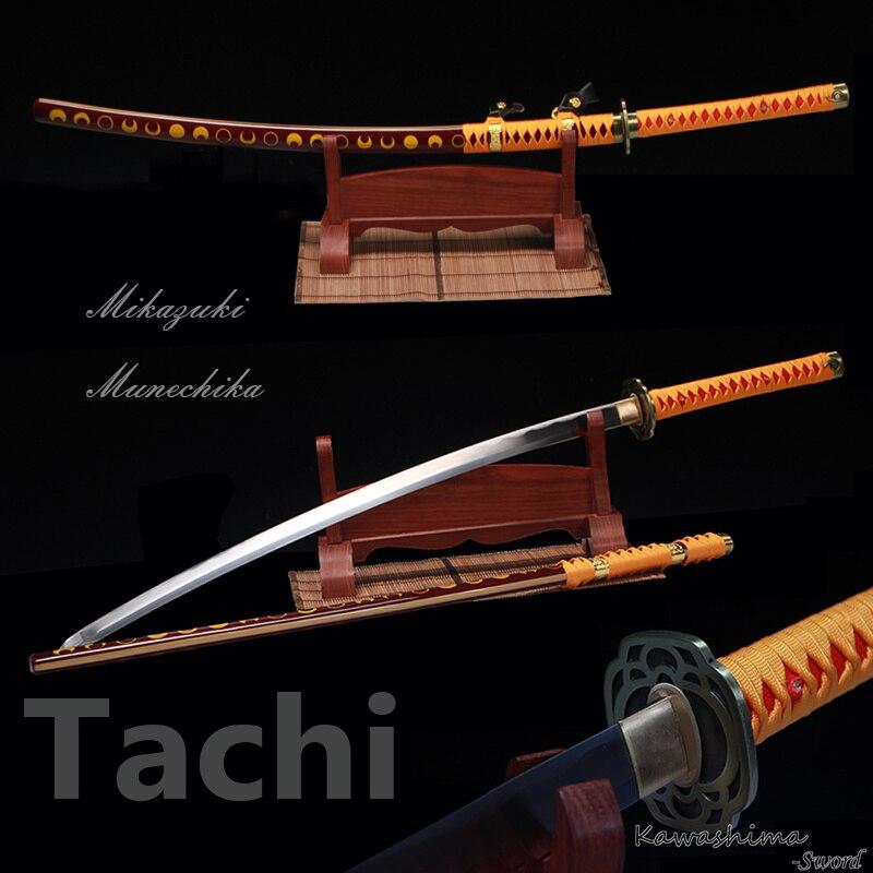 Handmade 1060 High Carbon Steel Replica Japanese Samurai Sword Real Katana Mikazuki Munechika Odachi Tachi 2017